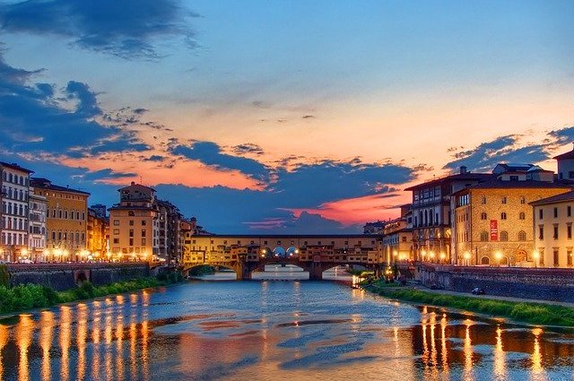 Tramonto Firenze Ponte Vecchio