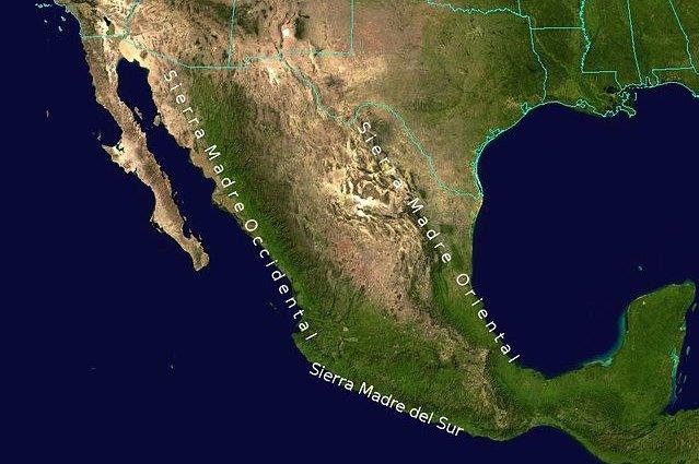 Sierra Madre, catena montuosa Messico